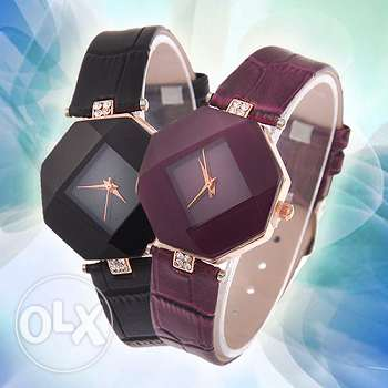Rhombic design women's wristwatch (3 pictures) (Free delivery)