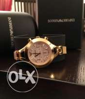 Lady's gold Armani watch for her