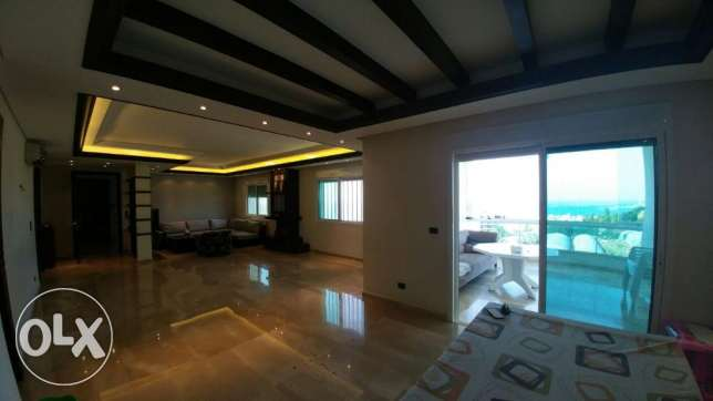 Zouk mikael 220m2- super luxurious-panoramic sea view-partly furnished كسروان -  6