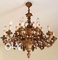 2 Chandeliers antique, copper, 45 yrs old