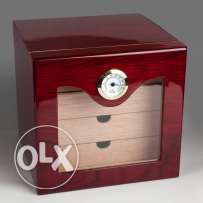 Luxury Red Wood Cigar Cabinet Humidor