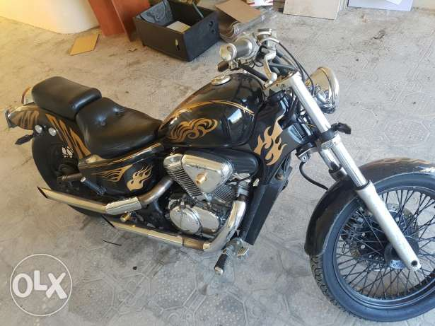 Steed 400cc in good condition for trade 3a shy moto hwy