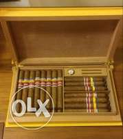 humidor + 30 cigars + special lighter for sale