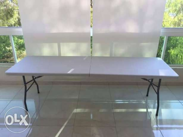 Large folding table 242x74x74cm