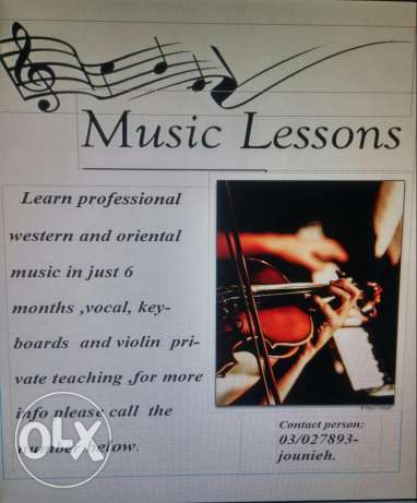 Music and vocal teaching