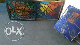 colored glass paintings - mosaic effect