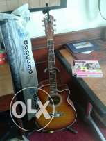 Electro-acoustic cutaway guitar with softcase