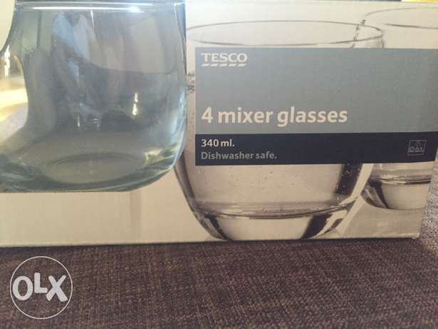 Tesco mixer glasses cups