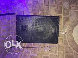 Speakers and mixer