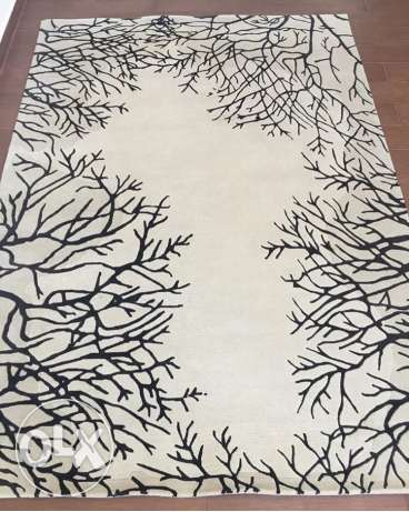 Forest design carpet. silk and wool.