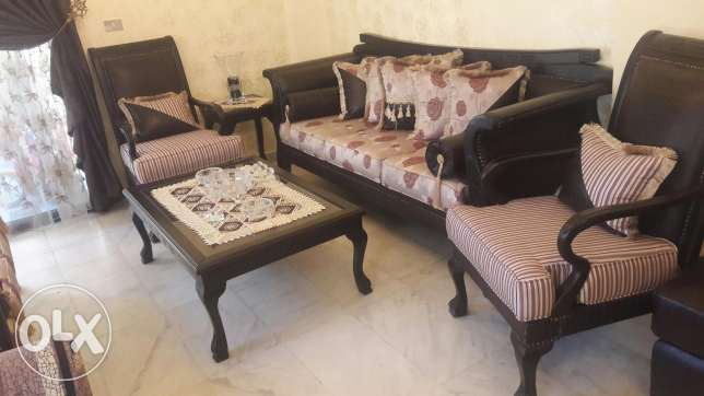 Salon versage, two big sofas,2 armchairs,a centre table, 2little table