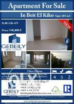 Luxurious Apartment for Sale in Beit El Kiko GB00479