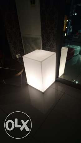 modern Illuminated nightstands/side tables