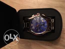 Superbe blue Emporio suit watch for him