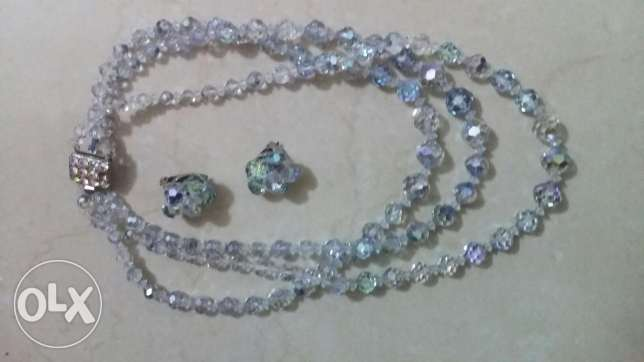 Necklace & earings like diamonds for sale