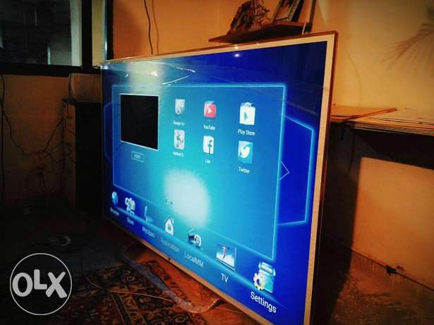 Smart led tv double glass