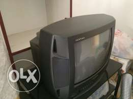 For sale Small TV 14 Inch -Panasonic With TV Table