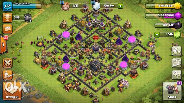 clash of clans TH9 (max)