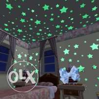 Star and Moon Energy Storage Fluorescent Glow In The Dark