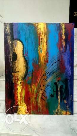 GUITARE VIBES - acrylic on canvas - 75*100cm