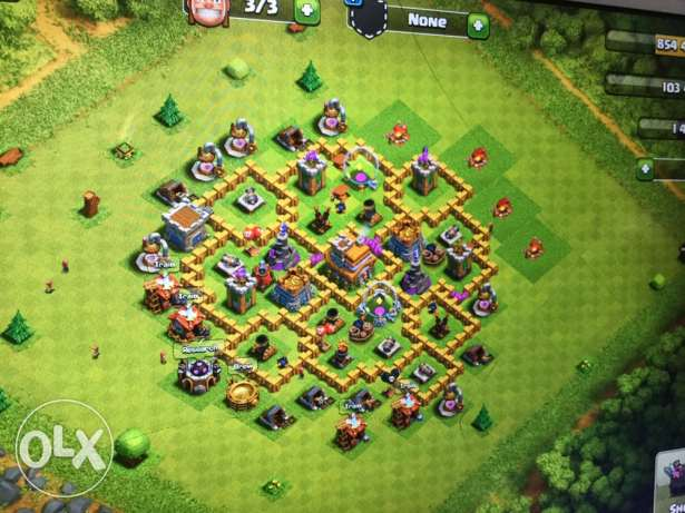 ard clash of clans town hall 7 max