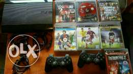 Ps3 good condition + 2 controllers + 8 games