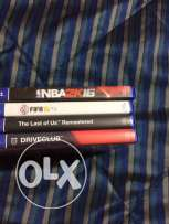 ps4 drive club nba 2k 16 fifa 15 and the last of us for sale