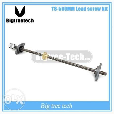 T8 screw 500 mm 8mm +bearing Bracket+coupling for 3d printer and cnc