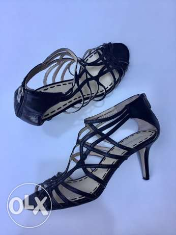 Pre-Owned Enzo Angiolini black leather sandals مار نقولا -  2