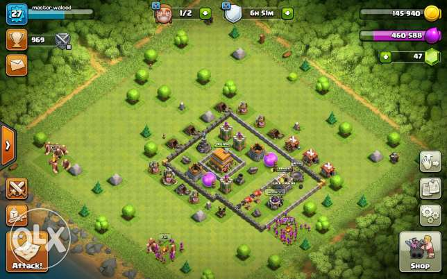Clash of clans townholl 5max begin to 6