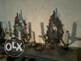 Bronze Chandeliers 100 years old, French hand made, each 35$