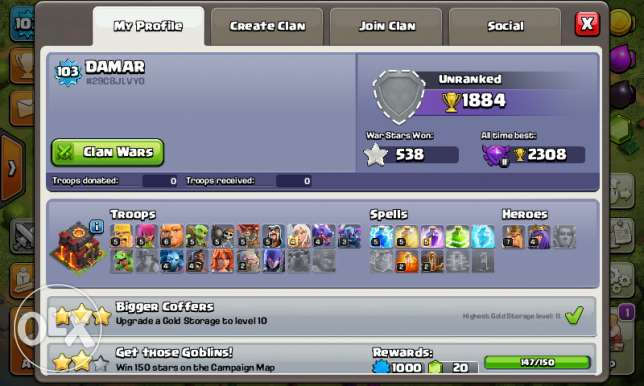 Account Clash of clans4