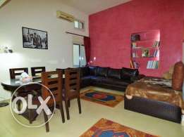 Furnished flat for rent 120sqm with 50sqm terrace in Mar Mekhael,1st F
