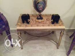 Antique bronze marble side table luxury