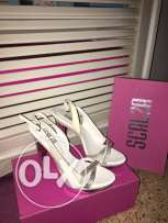 white high heels worn only once size 40