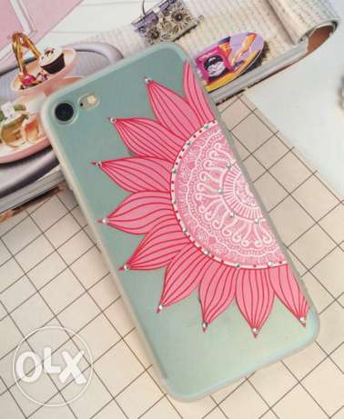 sunflower pattern rhinestone mobile phone cover case for iphone