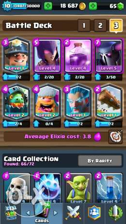 Clash royale account fe five legendary w b clan lvl 10 ba3d