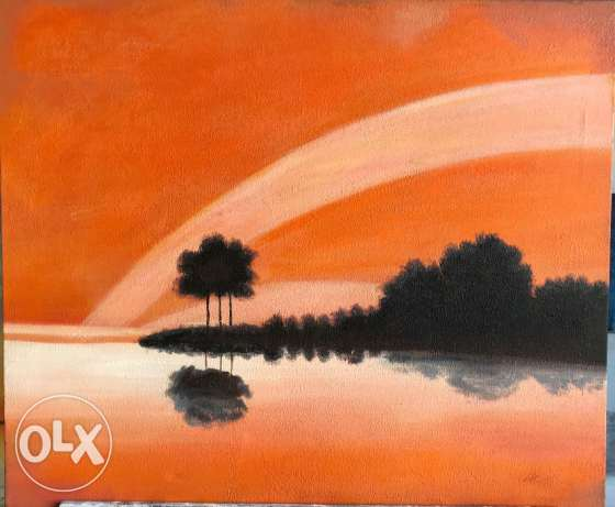 Simple Oil Painting For Sale.