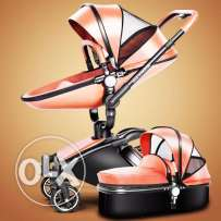 Baby-stroller-3-in-1-leather-Carriage-Infant-Travel-Car-Foldable-Pram