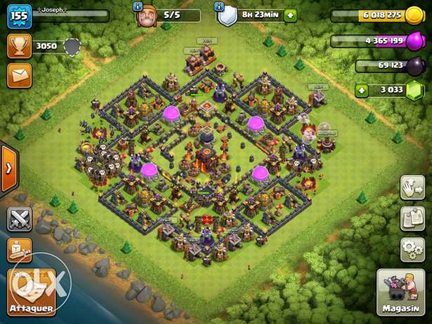 clash of clans lvl 155 th10