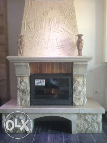 Wood fireplace 150x110x65