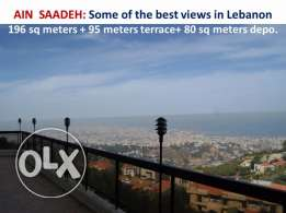 Ain Saadeh exceptional 251 sqm inc terrace total panoramic vies