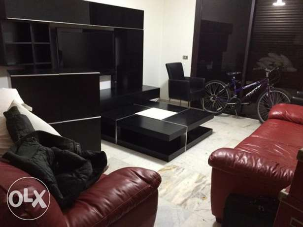 "tv wall unit + center table + 42"" Philips LCD + Samsumg DVD player بلونة -  2"