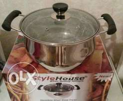 stainless steel frying pot