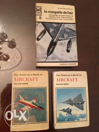 3 vintage books aircraft theme from the 70's