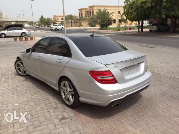 Mercedes C200 Look AMG 2012 Panoramic Xenon Led Sensors ضبيه -  4