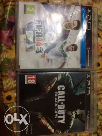fifa 14 and call of duty black ops like new ps3 cd console