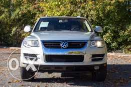 Volkswagen touareg silver leather black clean carfax