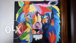 Abstract Acrylic Lion