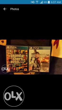 Battlefield 4 and gta 5 ps4 for sale or trade loc tripoli